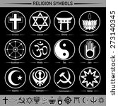 all religion in the signs and... | Shutterstock .eps vector #273140345