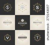 set luxury logos template... | Shutterstock .eps vector #273143057