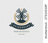 mill logo design element in... | Shutterstock .eps vector #273143189