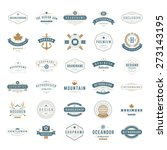 Retro Vintage Insignias or Logotypes set. Vector design elements, business signs, logos, identity, labels, badges, apparel, shirts, ribbons, stickers and other branding objects. | Shutterstock vector #273143195