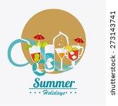 cocktail design over white... | Shutterstock .eps vector #273143741