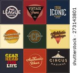 vintage design collection  ... | Shutterstock .eps vector #273143801