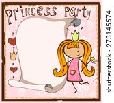 postcard princess with a scroll ... | Shutterstock .eps vector #273145574