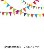 Vector Bunting Background With...