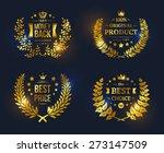 vector vintage badges... | Shutterstock .eps vector #273147509