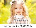 smiling cute kid girl 3 4 year... | Shutterstock . vector #273150314