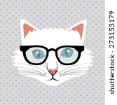 Stock vector cat design over white background vector illustration 273153179