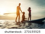 surfing. happy family... | Shutterstock . vector #273155525