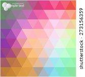 vector geometric shapes.... | Shutterstock .eps vector #273156359
