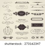 set of calligraphic elements... | Shutterstock .eps vector #273162347