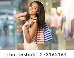 shopping  credit card  women. | Shutterstock . vector #273165164