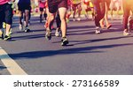 marathon running race  people... | Shutterstock . vector #273166589