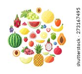 fruit vector circle background. ... | Shutterstock .eps vector #273167495