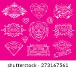 abstract  retro vintage design. ... | Shutterstock .eps vector #273167561