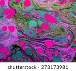marble artwork ebru pattern ... | Shutterstock .eps vector #273173981