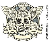 vector illustration of calavera ... | Shutterstock .eps vector #273178241