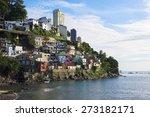 Colorful Hillside Favela...