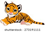 Illustration Of Cute Baby Tige...
