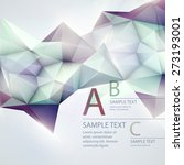 low poly triangular background. ... | Shutterstock .eps vector #273193001