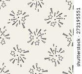 doodle firework seamless... | Shutterstock .eps vector #273195551