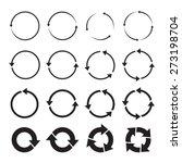 Set Of Black Circle Vector...