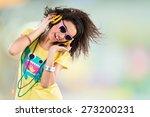 headphones  music  women. | Shutterstock . vector #273200231