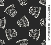 doodle cake seamless pattern... | Shutterstock .eps vector #273202061