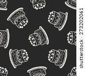 doodle cake seamless pattern...   Shutterstock .eps vector #273202061