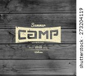 summer camp badges logos and... | Shutterstock .eps vector #273204119
