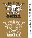 king of the grill barbecue... | Shutterstock .eps vector #273210311