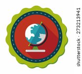 globe icon  flat icon with long ... | Shutterstock .eps vector #273213941