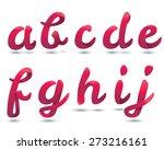 red ribbon script font   Shutterstock .eps vector #273216161