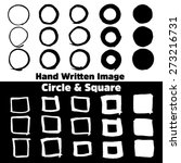 hand written circles and squares | Shutterstock .eps vector #273216731