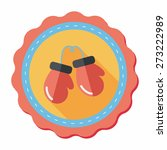 boxing gloves flat icon with... | Shutterstock .eps vector #273222989