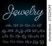 vector jewelry alphabet. | Shutterstock .eps vector #273224195