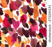 leopard skin seamless pattern.... | Shutterstock .eps vector #273234191