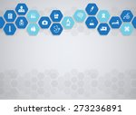 medical background and icons to ... | Shutterstock .eps vector #273236891