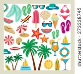 summer icon set | Shutterstock .eps vector #273238745