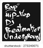 graffiti tag | Shutterstock .eps vector #273240071