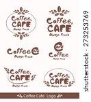 coffee cafe logo design vector   Shutterstock .eps vector #273253769