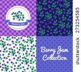homemade blueberry jam... | Shutterstock .eps vector #273254585