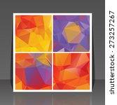 abstract vector flyer... | Shutterstock .eps vector #273257267