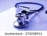 medical stethoscope in white... | Shutterstock . vector #273258911
