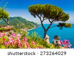 scenic picture postcard view of ... | Shutterstock . vector #273264029