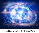 technology blue background  ... | Shutterstock . vector #273267299