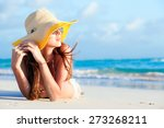 remote tropical beaches and... | Shutterstock . vector #273268211