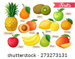 set of colorful tropical and... | Shutterstock .eps vector #273273131