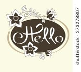 hello hand draw lettering and... | Shutterstock .eps vector #273278807