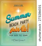 summer and beach party flyer | Shutterstock .eps vector #273286031