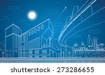 Vector Nigh Town  Architecture...